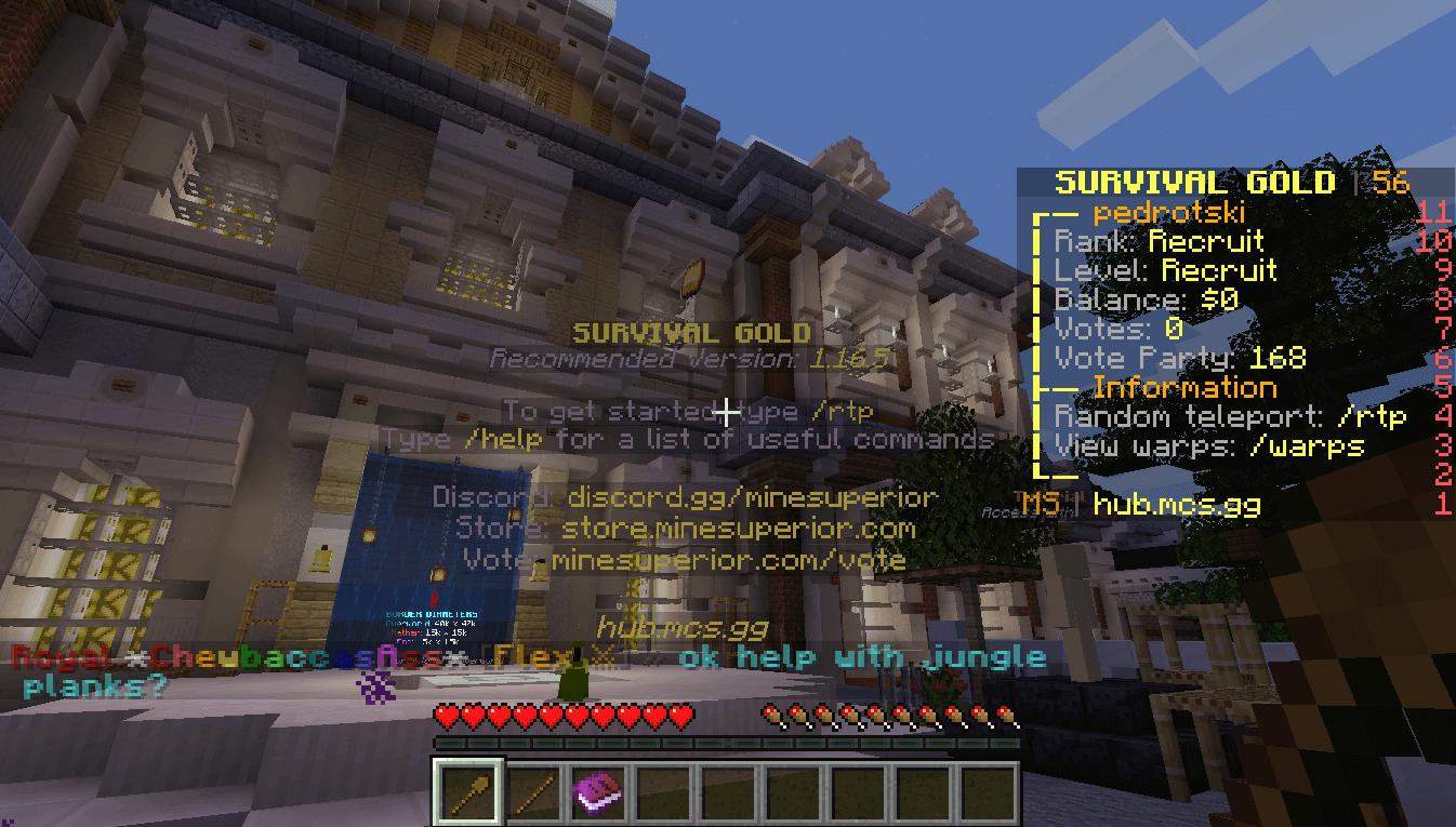 MineSuperior Server Screenshot