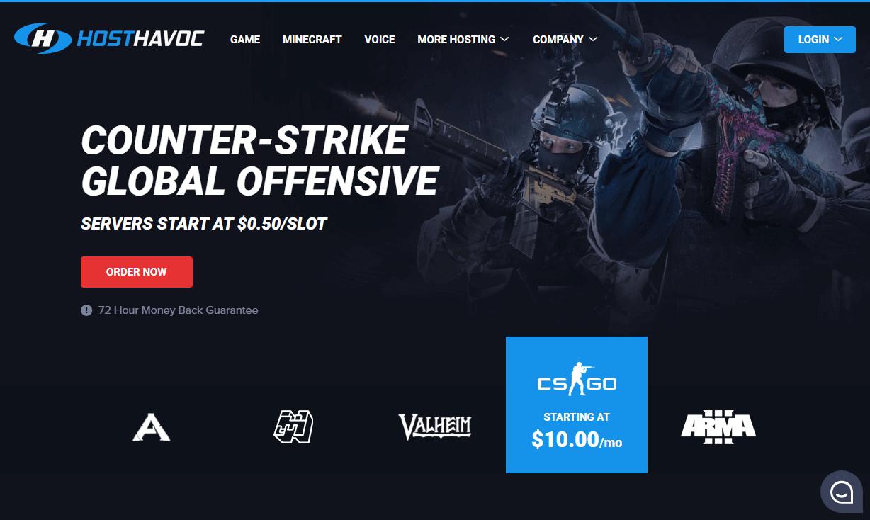 Host Havoc game server hosting
