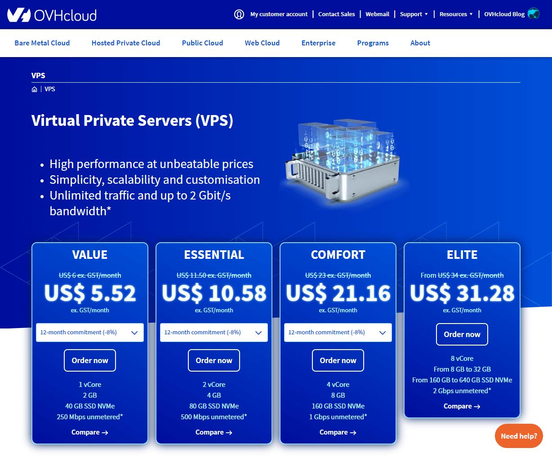 OVH Cloud game server hosting