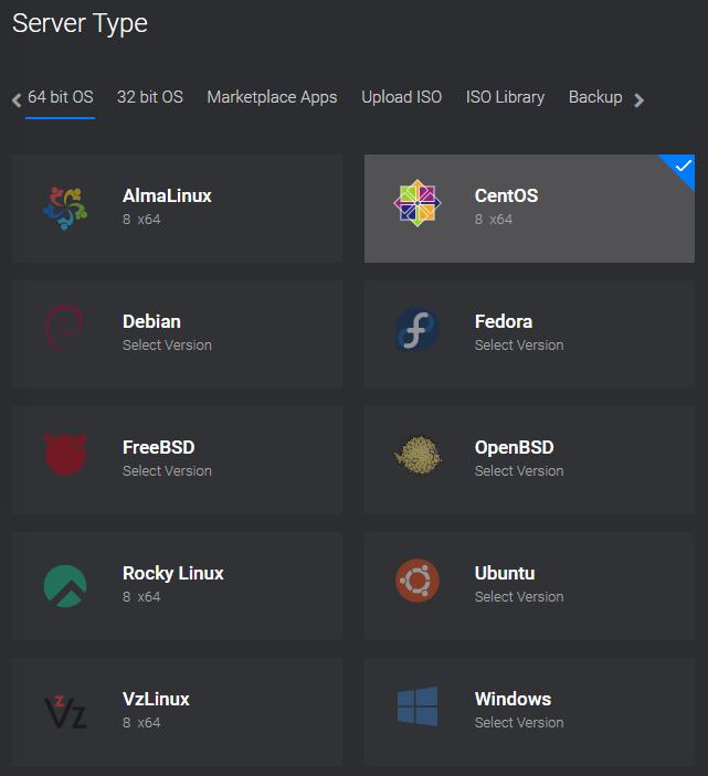 Deploy-Servers-Vultr-com operating system